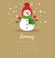 january 2018 year calendar page vector image