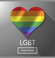 lgbt bisexual freedom colorful flag gay vector image