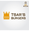 Logo label sticker for fast food restaurant vector image vector image