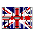 london flag color vector image vector image