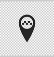 map pointer with taxi icon isolated vector image vector image
