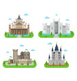 medieval castles fortresses forts and bastions vector image vector image