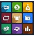 Money flat icon set 14 vector image vector image