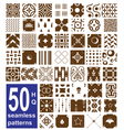 monochrome seamless patterns collection vector image