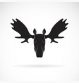 Moose deer head design on white background wild