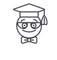nerdy student emoji concept line editable vector image vector image