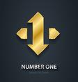 Number 1 First Place Winner Gold design element vector image vector image