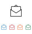 open envelope with letter icon vector image