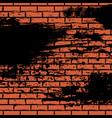 orange brick wall vector image vector image