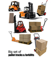 Packaging and forklift vector | Price: 1 Credit (USD $1)