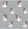 pelican seamless dark vector image vector image