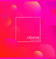 pink creative solutions background with bubbles vector image vector image