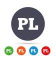 Polish language sign icon pl translation