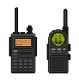 Radio Set Transceiver with Antenna Receiver vector image