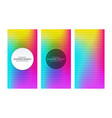 rainbow gradient banners with diamond shaped vector image vector image