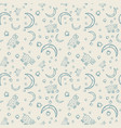 seamless pattern of lambs of months and stars vector image