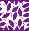 Seamless pattern of violet striped leaves vector image