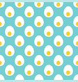 seamless pattern with bird eggs cutaway eggs vector image vector image