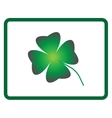 Sign four leaf clover 605 vector image