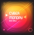 square banner for cyber monday bright template vector image