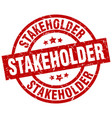 stakeholder round red grunge stamp vector image vector image