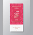 strawberry home fragrance abstract label vector image vector image