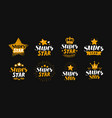 super star set labels or logo lettering vector image vector image