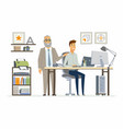 supervising staff - modern cartoon business vector image vector image