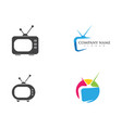 tv lcd led monitor icon vector image vector image