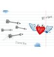 Valentine doodles vector image vector image