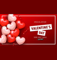 valentine s day sale background top view on vector image vector image