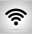 wifi signal silhouette simple black icon vector image vector image