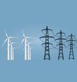 wind turbine vector image vector image