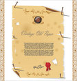 vintage old paper with nail vector image