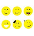 emoticon emoji set on white background emoticon vector image