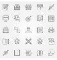 Copywriting icons set vector image