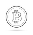 simple bitcoin icon isolated on white background vector image