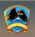eagle mountain vector image