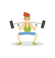 male bodybuilder exercising with a barbell active vector image
