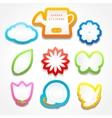 Set of garden stickers vector image