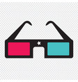 3d cinema glasses vector image vector image