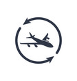 airline services - minimal modern icon vector image vector image