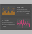 analytics and statistics data on internet pages vector image vector image