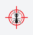ant icon red target vector image vector image