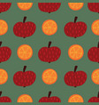 apples and oranges seamless pattern hand vector image