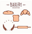bakery and dessert icon set collection logo vector image vector image