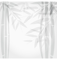 Bamboo trees on white background vector image vector image