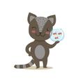 Black Little Girly Cute Kitten Holding Aquarium vector image vector image