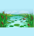 blue river cartoon game background vector image