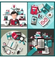 Books Flat Set vector image vector image